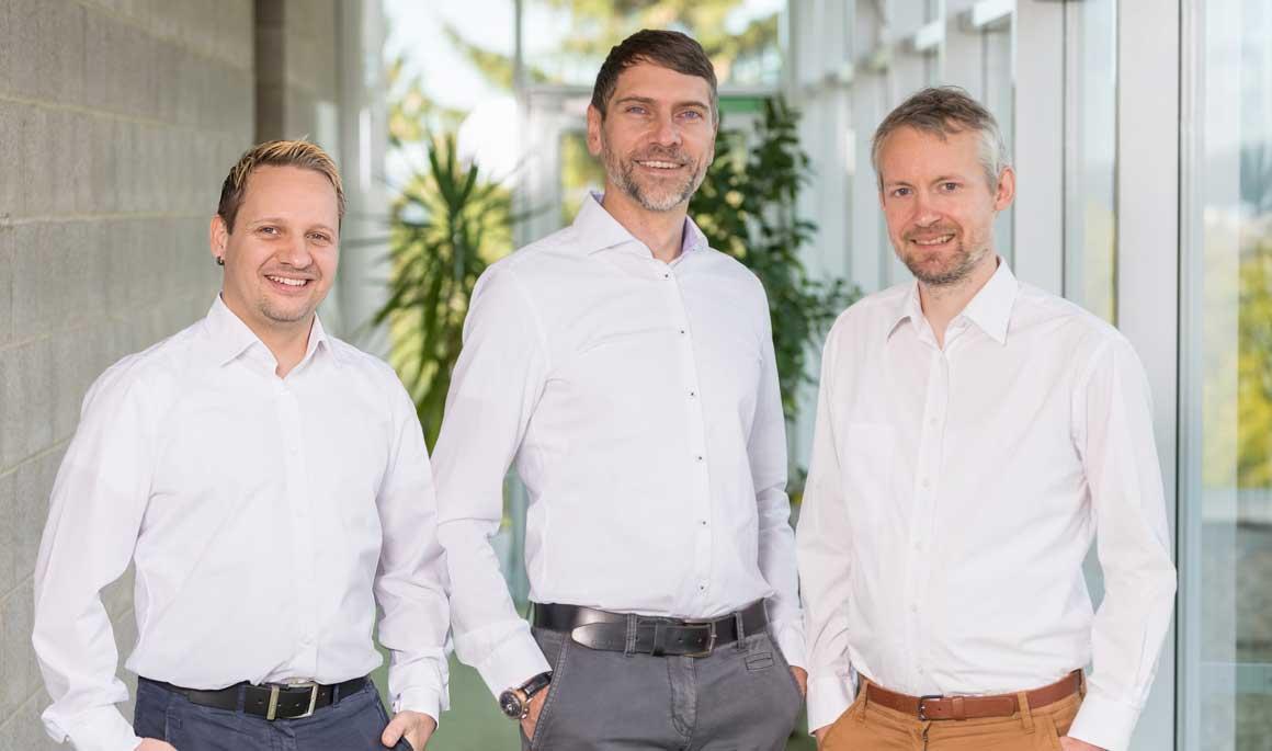 Das ivoc-x-Team: Dr. Thomas Krech, Dennis Sippach und Torsten Langer